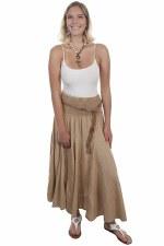Acid Wash Broomstick Skirt KHA SML