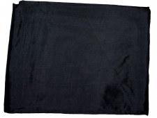 SOLID BLACK 42.5 INCH SILK WILD RAG
