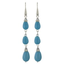 Clear Sky Triple Drop Earrings