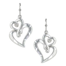 Infinite Love Heart Earrings