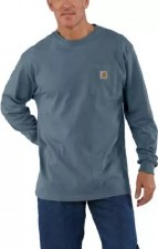 Pocket L/S Tee Steel Blue XL REG