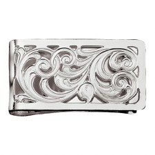 Silver Filigree Square Money Clip