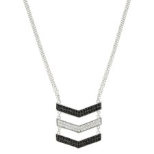 Chevron Suspension Necklace