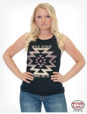 Aztec Print Muscle Tank Black XL