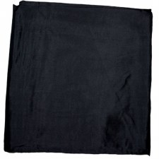 100% SILK WILD RAG BLACK