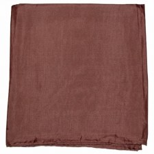 100% SILK WILD RAG CHOCOLATE
