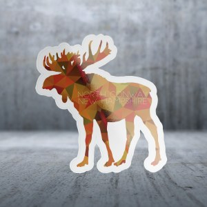 Sticker Pack Poly Moose Decal Large