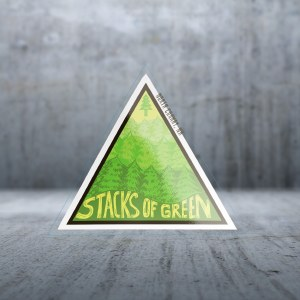 Sticker Pack Mountain Living - Stacks of Green Decal Large