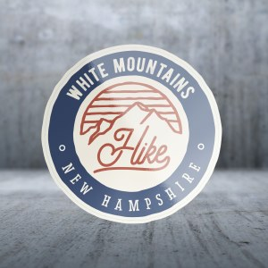 Sticker Pack Hiking - Hike Cursive Mountains Decal Large