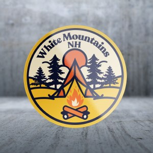 Sticker Pack Camping - Orange Fire Decal Large