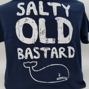 Pacific Art Salty Old Bastard S/S Tee Large Navy