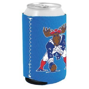 Woods & Sea Minute Moose Can Coolie 12 oz Royal Blue