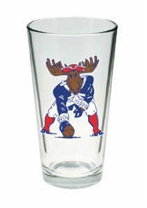 Woods & Sea Minute Moose Pint Glass No Size Minute Moose
