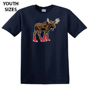 Woods & Sea Sox Moose Youth S/S Tee Large Navy