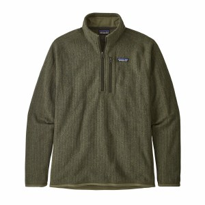 Patagonia Men's Better Sweater Rib Knit 1/4-Zip Fleece Large Industrial Green Rib Knit