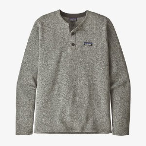 Patagonia M's Better Sweater Henley Pull L Stonewash