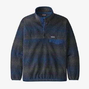 Patagonia Men's Synchilla Snap-T Fleece Pullover M Gem Striped New Navy