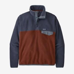 Patagonia Men's Lightweight Synchilla Snap-T Fleece Pullover MD Fox Red