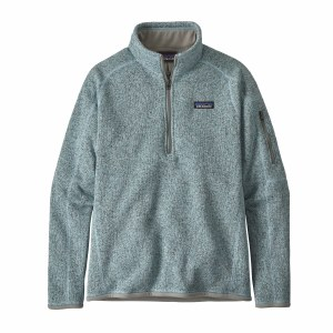 Patagonia Women's Better Sweater 1/4-Zip Fleece Medium Hawthorne Blue