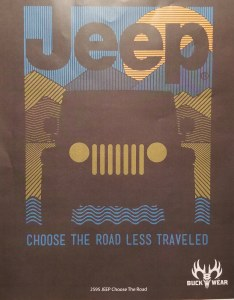 Buck Wear Inc Jeep Choose The Road S/S Tee S Smoke