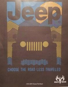 Buck Wear Inc Jeep Choose The Road S/S Tee L Smoke
