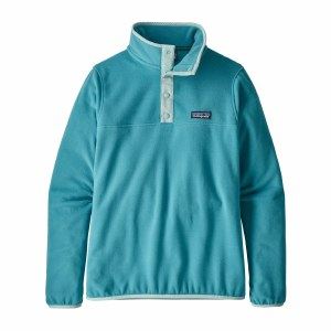 Patagonia Women's Micro D Snap-T Fleece Pullover Large Mako Blue