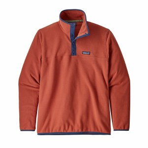 Patagonia Men's Micro D Snap-T Fleece Pullover Large New Adobe