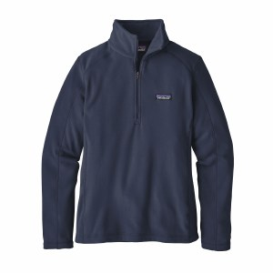Patagonia Women's Micro D 1/4-Zip Fleece Medium New Navy