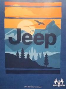 Buck Wear Inc Jeep Broken Landscape S/S Tee S Blue