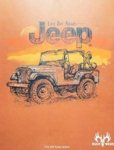 Buck Wear Inc Jeep Stripe Splatter S/S Tee S Yam
