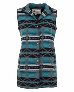 Outback Trading Company Stockard Vest Medium Turquoise