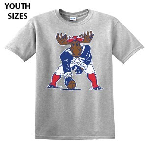 Woods & Sea Minute Moose Youth S/S Tee 2T Sports Grey