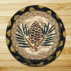 Capitol Earth Rugs Pinecone Coaster 5""