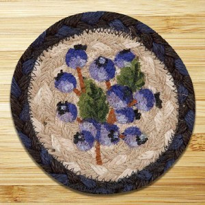 """Capitol Earth Rugs Blueberry Coaster 5"""""""