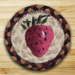 Capitol Earth Rugs Strawberry Coaster 5""