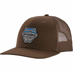 Patagonia Fitz Roy Hex Trucker Hat OS Bristle Brown