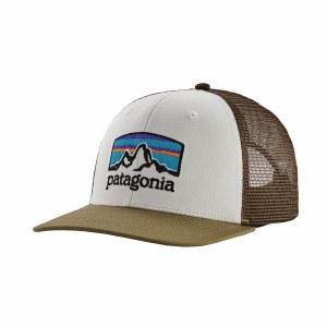 Patagonia Fitz Roy Horizons Trucker Hat One Size White w/ Sage Khaki
