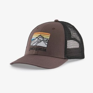 Patagonia Line Logo Ridge LoPro Trucker Hat  Dusky Brown