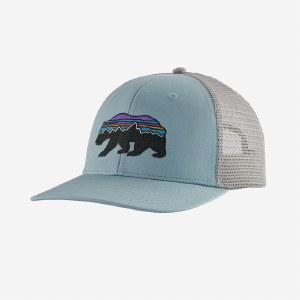 Patagonia Fitz Roy Bear trucker Cap  OS Big Sky Blue