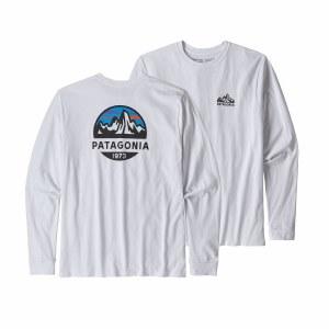 Patagonia Men's Long-Sleeved Fitz Roy Scope Responsibili-Tee Large White