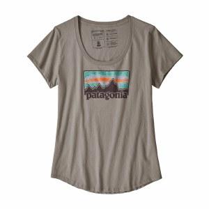 Patagonia Women's Solar Rays '73 Organic Scoop T-Shirt Medium Feather Grey