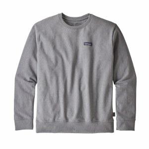 Patagonia Men's P-6 Label Uprisal Crew Sweatshirt X-Large Gravel Heather