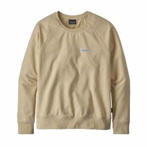 Patagonia Women's Pastel P-6 Label Ahnya Crew Sweatshirt Large Oyster White