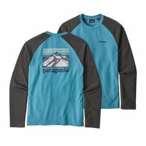 Patagonia Men's Line Logo Ridge Lightweight Crew Sweatshirt Medium Mako Blue