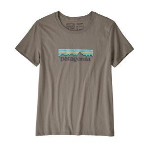 Patagonia Women's Patel P-6 Logo Organic Cotton Crew T-Shirt M Feather Grey