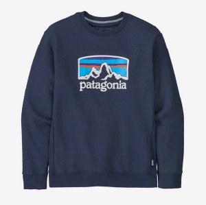 Patagonia M's Fitz Roy Horizons Uprisal Crew Sweatshirt L New Navy