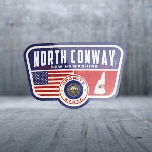Sticker Pack Patriotic Location - New Hampshire Decal Large