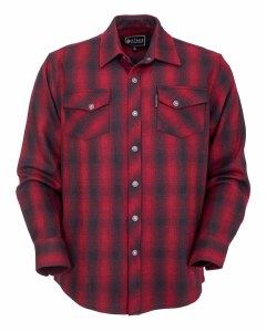 Outback Trading Company Mount Elk Big Shirt  Large Red