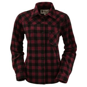Outback Trading Company Ladies Big Shirt Medium Wine