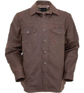 Outback Trading Company Archibald Shirt Jacket L Brown